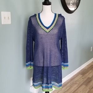 Tommy Bahama Women's Crochet Beach Cover Up- Large
